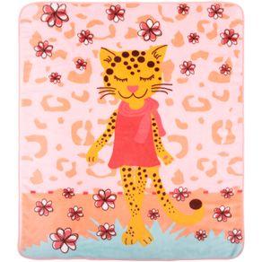 Cobertor-Fleece-Tigresa-Rosa