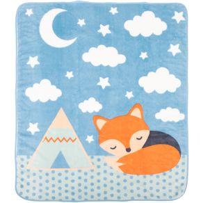 Cobertor-Fleece-Raposa-Azul