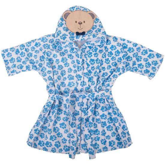 7226a851d98e41 Roupão com Capuz Bichinhos Ursinho Azul - Loja Baby Joy Artigos para ...