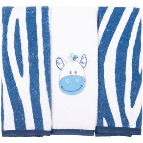 Toalha-Boquinha-Bichinhos-Zebra-Azul-Marinho