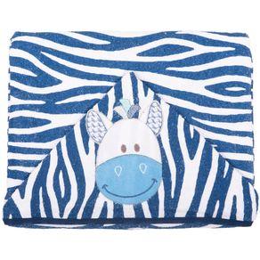 Toalha-Bichinhos-Zebra-Azul-Marinho