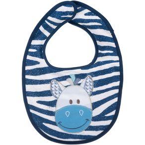 Babador-Bichinhos-Zebra-Azul-Marinho