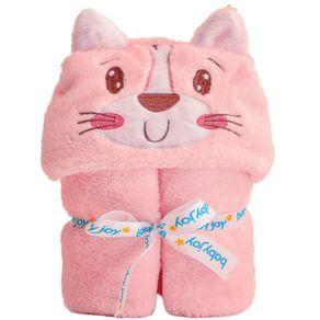manta-com-capuz-microfibra-liso-bordado-gatinha-rosa